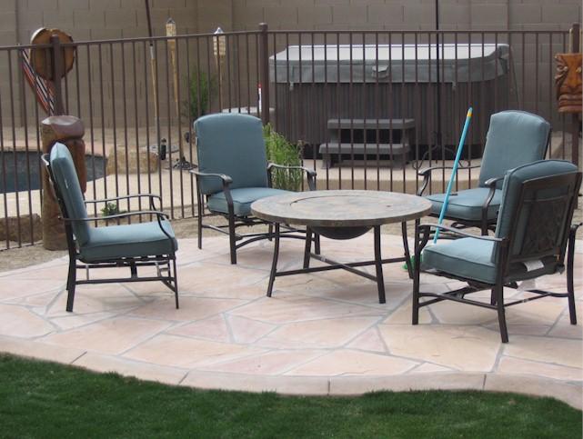 flagstone patio arizona landscaping