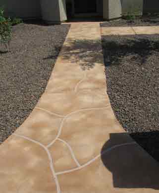 acrylic overaly fake flagstone look arizona aquatic landscaping