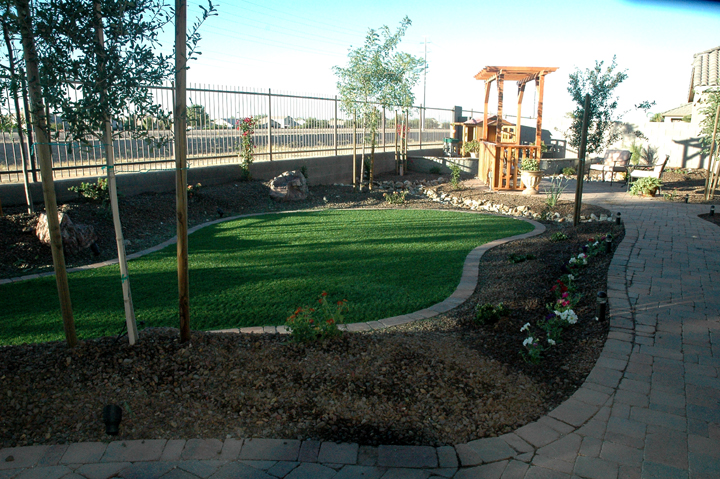 arizona landscape design synthetic grass