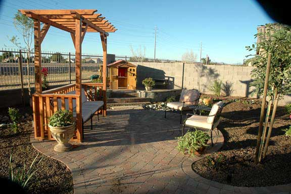 Paver Patio Landscape Design Desert Yard