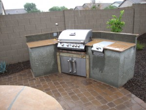 Built-IN-Gas-BBQ Arizona Living Landscape