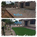 Synthetic Grass backyard landscape design