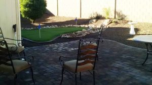 backyard landscaping putting green