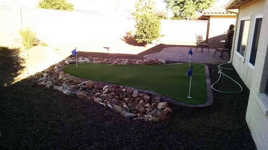 Backyard Landscaping Putting Green - Az Living Landscape