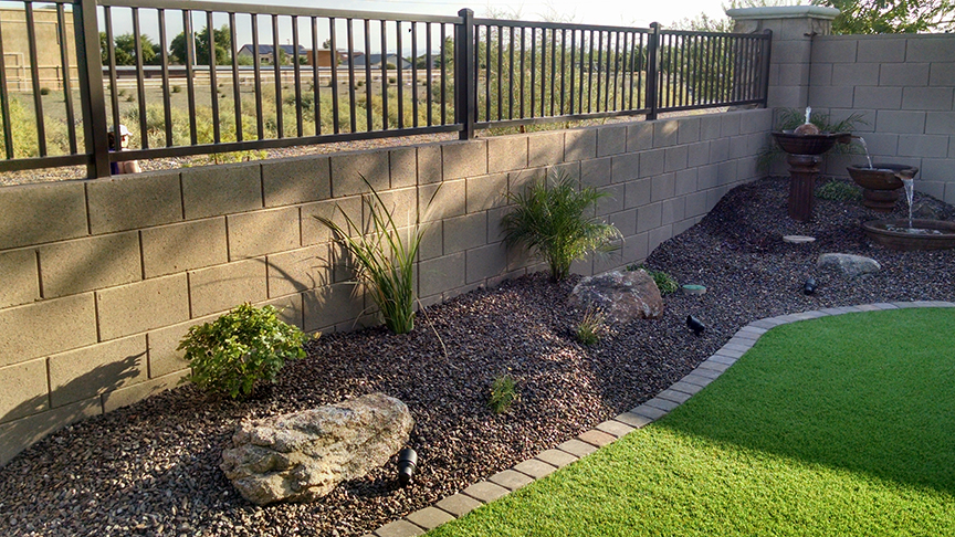 Small Backyard Landscaping - Az Living Landscape & Design on Small Yard Landscaping Ideas id=91124