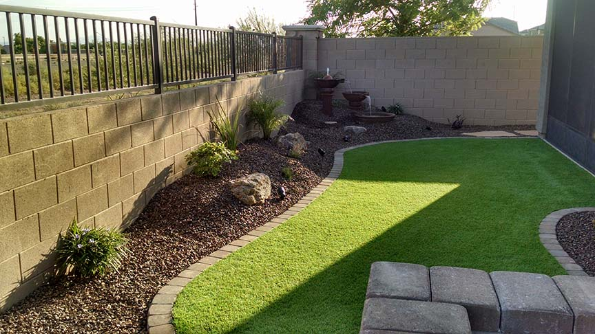 Small Backyard Landscaping - Az Living Landscape & Design on Artificial Turf Backyard Ideas id=93448
