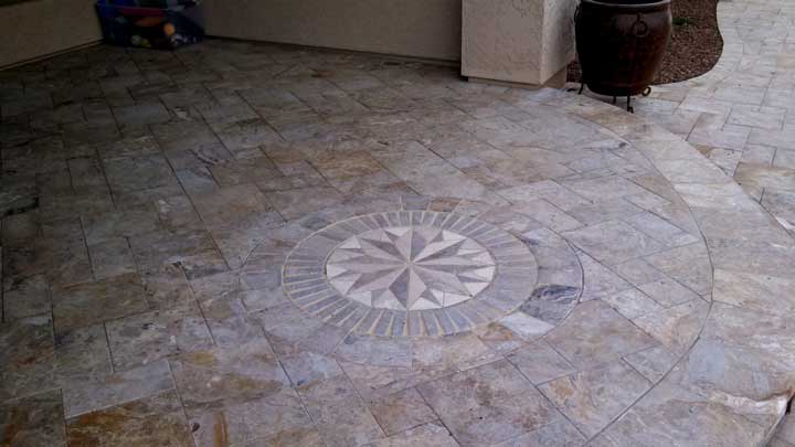 travertine patio paver patio ideas