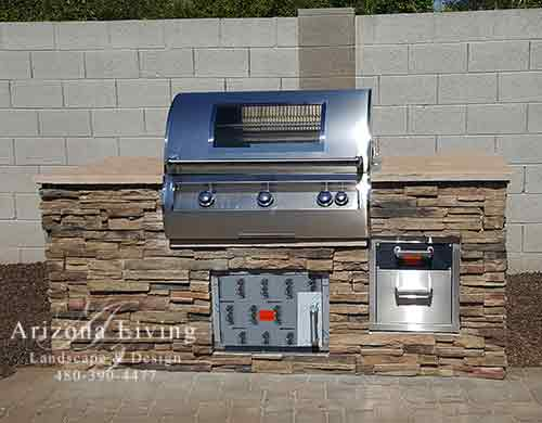 Custom-grill-counter-flagstone-top