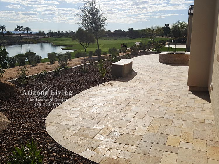 Paver Patio design ideas installation - Arizona Living ... on Travertine Patio Ideas id=59850