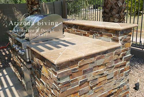 travertine-bullnose-counter-top-BBQ